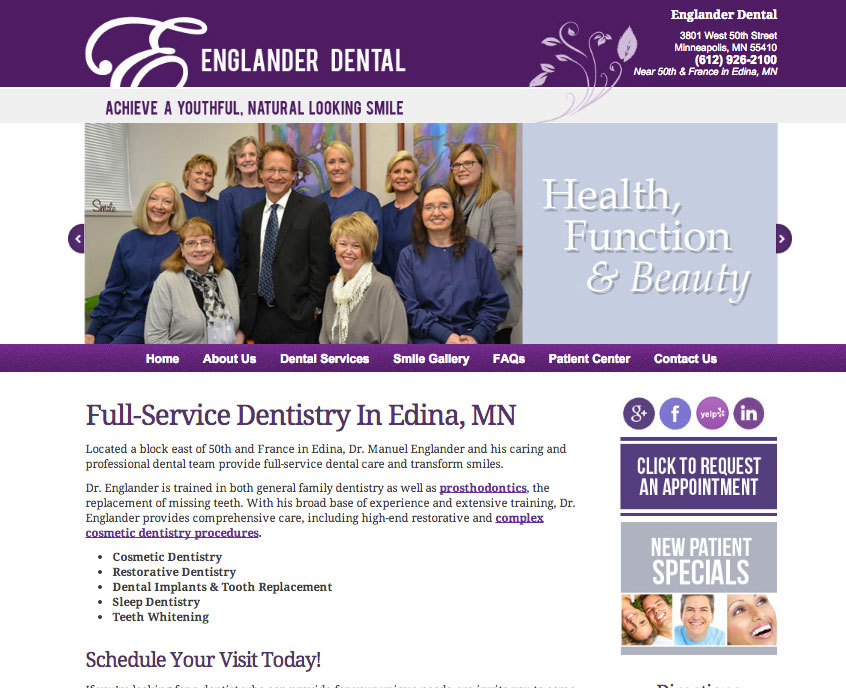 EnglanderDental_WebsiteDesign